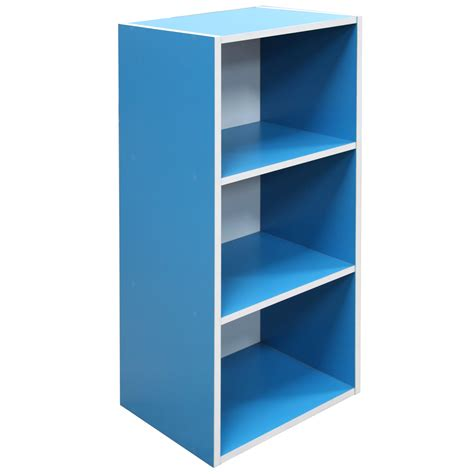 wooden 3 tier bookcase shelving display storage wood shelf