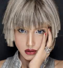 stylish cuts for gray hair bob hairstyles grey hair layered haircut trendy