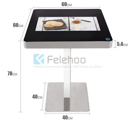 21 5inch capacitive multi touch table smart interactive table