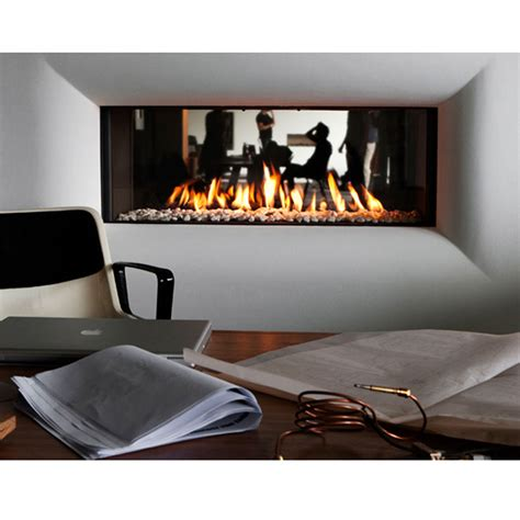 lineafire fireplaces horizontal 150 tunnel wood and gas