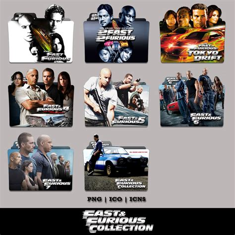 Fast Furious Collection fast and furious collection folder icon pack by