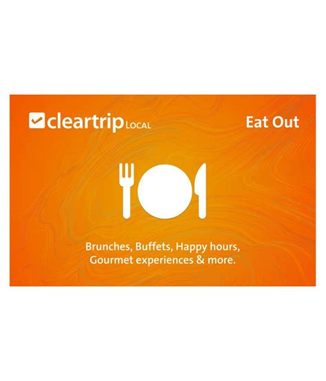 In Out Gift Card - cleartrip local eat out e gift card buy online on snapdeal