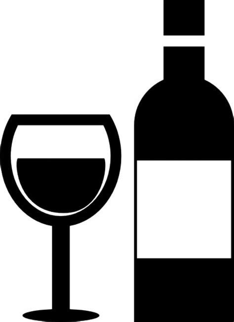 Taça de vinho e uma garrafa de vidro | Download Ícones