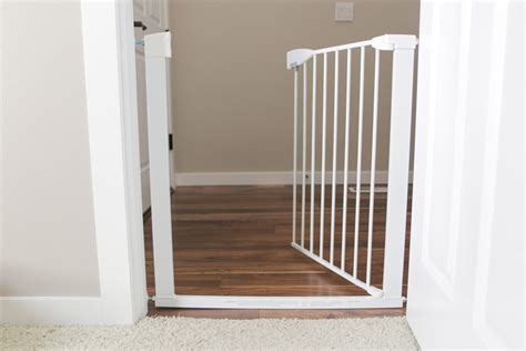 baby gate with swing open door the best baby gates of 2018 your best digs
