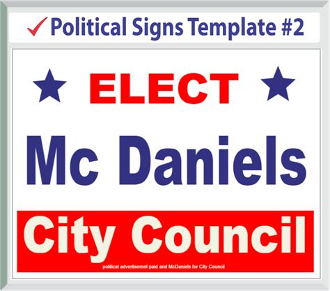 yard sign design template political templates