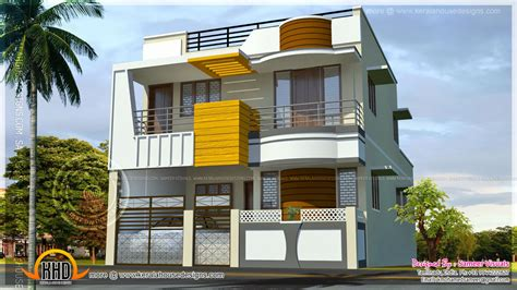 home designs india free double storied modern south indian home kerala home