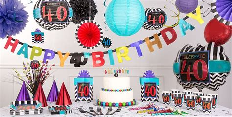 birthday themes at party city celebrate 40th birthday party supplies 40th birthday