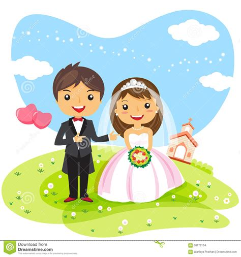 Wedding Invitations Characters by Wedding Invitation Stock Vector Image