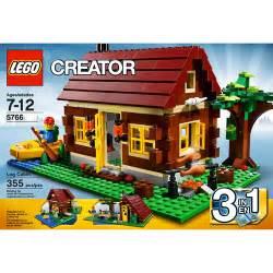 lego creator log cabin play set walmart