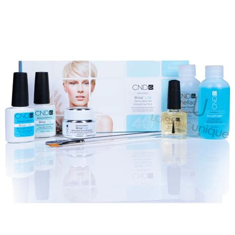 Shellac Starter Kit With L by Cnd Brisa Lite Removable Gel Nail Smoothing Pack Shellac