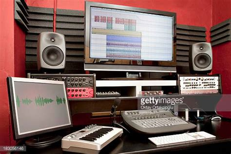 Recording Studio Stock Photos And Pictures Getty Images Small Recording Studio Desk