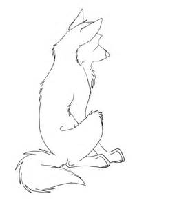 Anime Sitting Outline by Sitting Wolf Lineart By Ukthewhitewolf On Deviantart