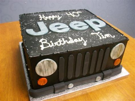 happy birthday jeep cake jeep themed birthday cake desserts pinterest