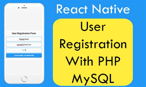 react native ios tutorial react native user registration with php mysql android ios
