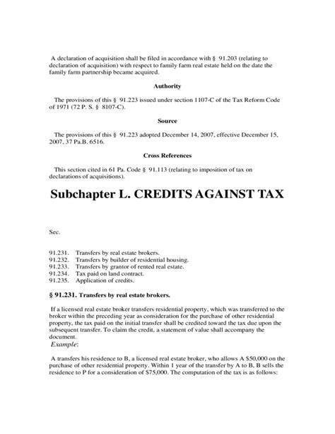 tax code section 61 revenue code chapter 91 realty transfer tax free download