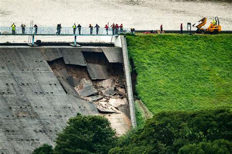whaley bridge dam   fully broken  hours