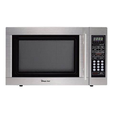 Stainless Steel Countertop Microwave Reviews by Magic Chef 1 3 Cu Ft Countertop Microwave In Stainless
