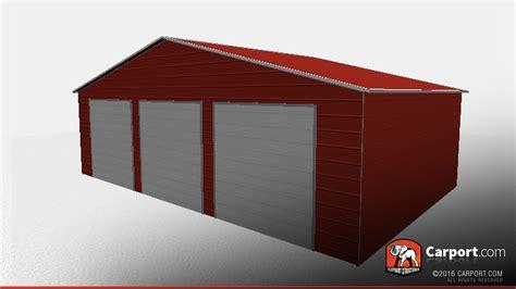 Garage Storage Roof Three Car Garage Storage Building With Vertical Roof