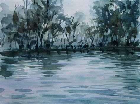 water painting tutorial watercolor painting forest and water