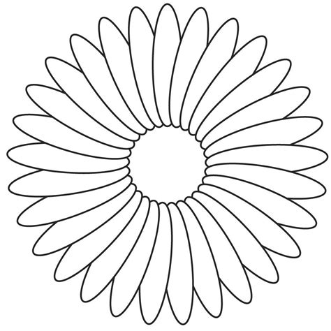 Flower Coloring Template Flower Coloring Page Coloring Pages For Flowers