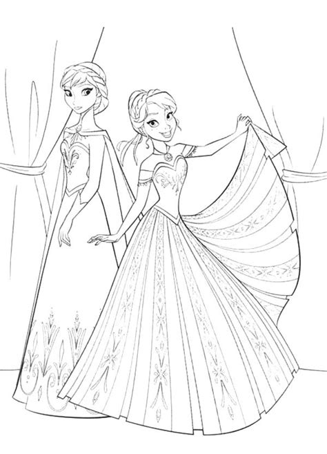 princess queen coloring pages anna introduse prince hans to queen elsa coloring pages in