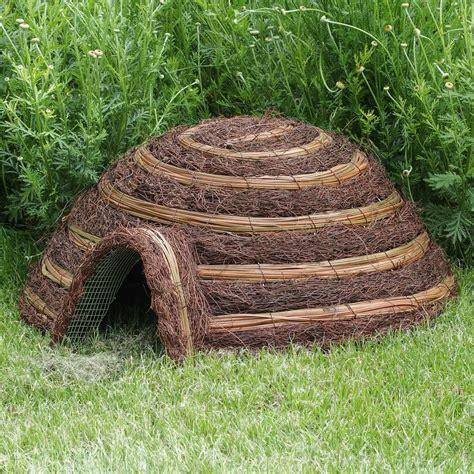 the wicker house wicker hedgehog house by london garden trading notonthehighstreet com