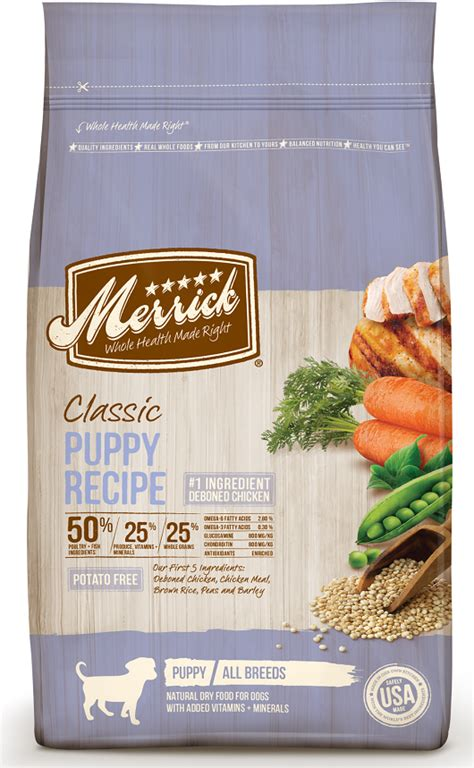 merrick puppy food merrick classic puppy recipe food petflow