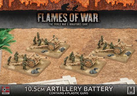 v4 card template flames of war 10 5cm artillery battery gbx91 wargamestore