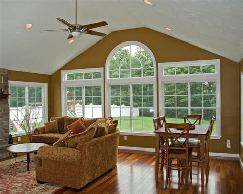 How Much Sunroom Cost Four Season Room Amp Deck Traditional Family Room
