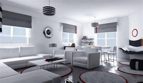wohnzimmer puristisch wohnzimmer einrichten ideen in wei 223 schwarz und grau
