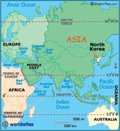 North Korea On World Map by North Korea Map Geography Of North Korea Map Of North
