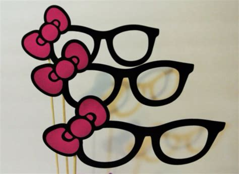 printable hello kitty photo booth props unavailable listing on etsy