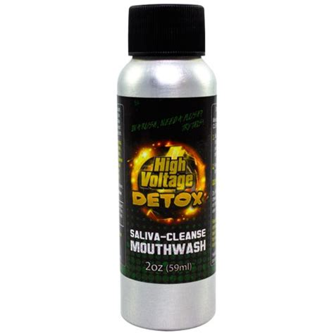 Can Detox Drinks Be Detected by High Voltage Saliva Cleanse Detox Mouthwash Urine