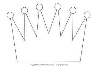Crown template 2 our second printable crown template has space
