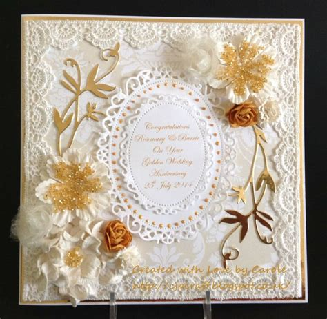 Handmade Golden Wedding Cards - golden wedding card my 2014 handmade cards