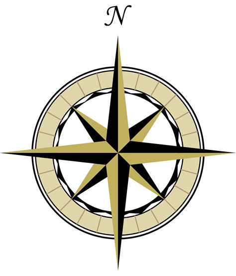 compass tattoo true north compass wind rose clipart best