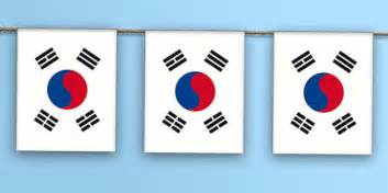 flags of the world twinkl south korea flag bunting flag world geography asia