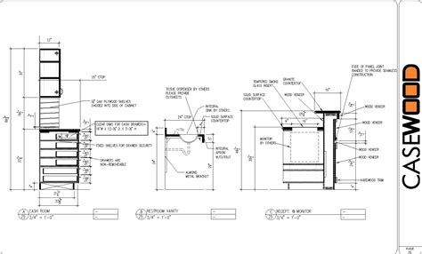 kitchen cabinets details woodworking cabinet detail cad drawings plans pdf download