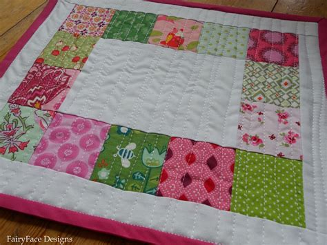 Quilting Placemats by Fairyface Designs Easy Peasy Quilted Placemats Tutorial