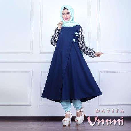 Celana Jogger Navy Bu davita navy baju muslim gamis modern