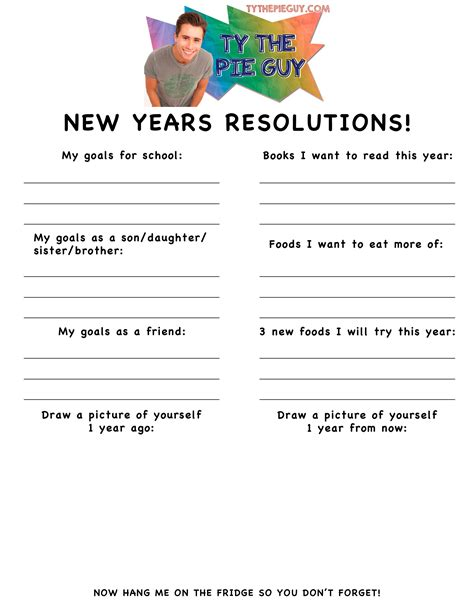 2015 new years resolution worksheet search results
