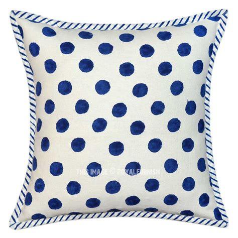 Canvas Rug Polkadot Hitam white and blue polka dots canvas throw pillow cover royalfurnish