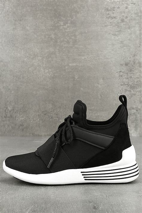 black and white wedge sneakers kendall braydin3 wedge sneakers black