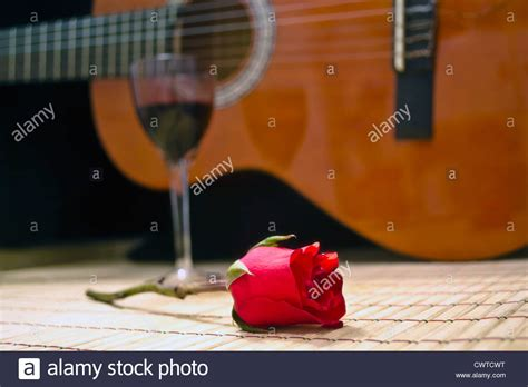 rose theme guitar bohemian picture image of spanish guitar romantic evening