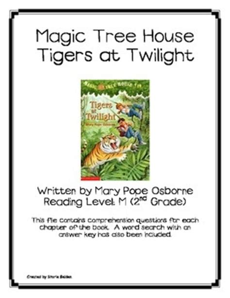 magic tree house printable quizzes magic tree house 19 tigers at twilight book questions