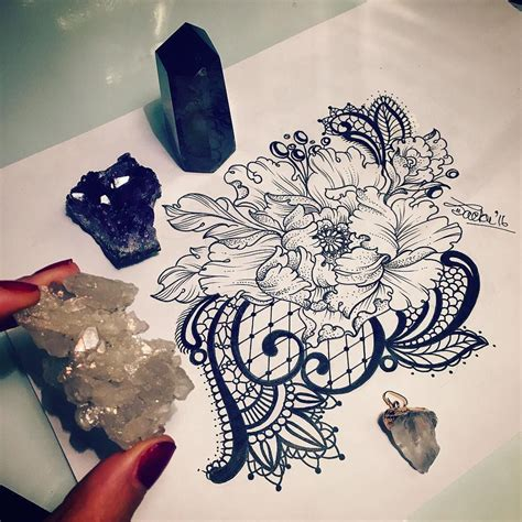 victorian lace tattoo flower with lace inspiration floral
