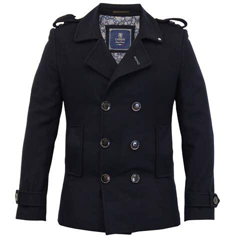 breasted jacket mens wool mix jacket cavani breasted coat slim fit