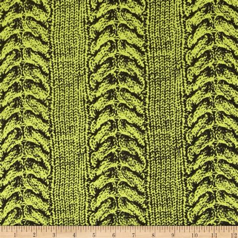 printed knit fabric jersey knit printed cable stitch yellow discount