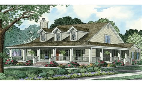 wrap around porches house plans country house plans country style house plans with