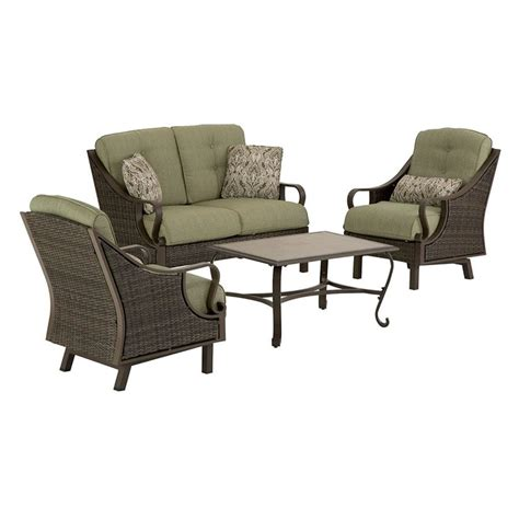 shop hanover outdoor furniture ventura  piece wicker